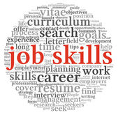 Job skills in word tag cloud — Foto de Stock