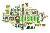 Phishing concept in word tag cloud on white background — Stock Photo