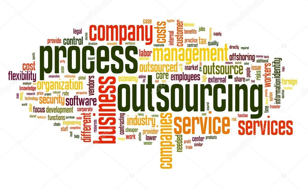 Process outsourcing concept in word tag cloud on white background   Stock Photo #13421520