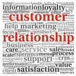 Customer relationship concept in word tag cloud on white — Stock Photo #13565441