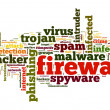 Firewall concept in word tag cloud on white background — Zdjęcie stockowe