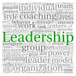 Leadership concept in word tag cloud on white background — 图库照片