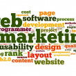 Web marketing concept in word cloud on white background — Stock Photo