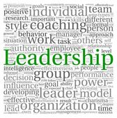Leadership concept in word tag cloud on white background — Stock Photo