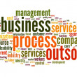 Business process outsourcing concept in word tag cloud on white background - Stock Photo
