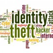 Stock Photo: Identity theft concept in word tag cloud isolated on white background