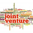 Foto de Stock  : Joint venture concept in tag cloud on white background