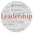 Leadership concept in word tag cloud on white background — Stock Photo #13721649