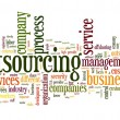 Stock Photo: Outsourcing concept in word tag cloud on white background