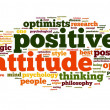 Positive attitude concept in word tag cloud on white background — Foto de Stock