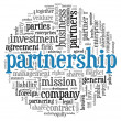 Stock Photo: Partnership and business concept in tag cloud on white