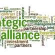 Stock Photo: Strategic alliance concept in tag cloud on white