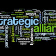 Strategic alliance concept in tag cloud on black - Stock Photo