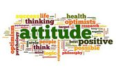 Attitude concept in word tag cloud on white background — Stock Photo
