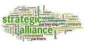 Strategic alliance concept in tag cloud on white — Stock Photo