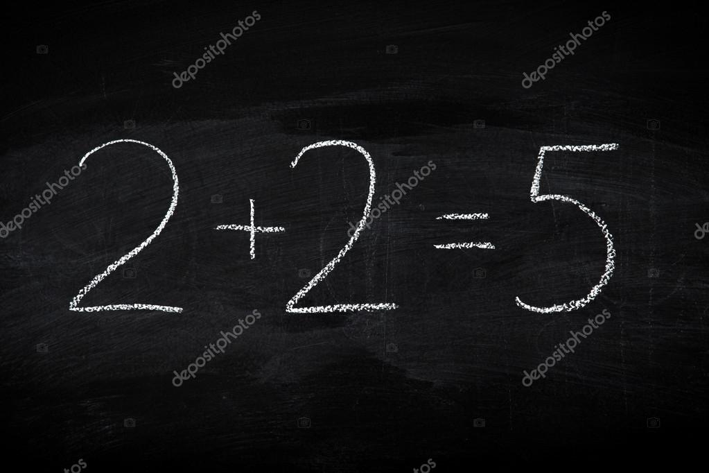Mistake in math formula on chalkboard - education concept illustrated on blackboard — Stock Photo #13721625