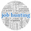 Job hunting concept in word tag cloud - Stock Photo