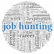 Stock Photo: Job hunting concept in word tag cloud