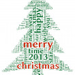 Stock Photo: Merry christmas 2013 in tag cloud