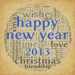 Happy New Year 2013 in tag cloud — 图库照片 #13898573