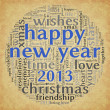 Happy New Year 2013 in tag cloud — Stockfoto #13898573