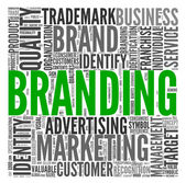 Branding concept in tag cloud — Stock Photo