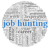 Job hunting concept in word tag cloud — Stock Photo