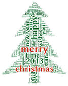 Merry christmas 2013 in tag cloud — Stock Photo