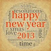 Feliz natal de 2013 em nuvem de tags — Foto Stock