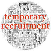 Temporary recruitment concept — Stock Photo