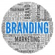 Branding concept in tag cloud — Stock Photo #14073197