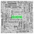 Branding concept in tag cloud — Stock Photo #14073198