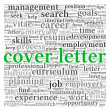 Stock Photo: Cover letter concept