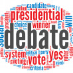 Presidential debate concept — Stock Photo