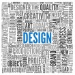 Design concept in tag cloud — Stock Photo #14073234