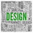Design concept in tag cloud — Stock Photo #14073240
