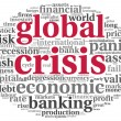 Royalty-Free Stock Photo: Global crisis concept on white