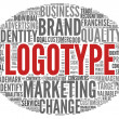 Stock Photo: Logotype concept in tag cloud