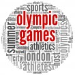 Olympic games in tag cloud — Stock Photo
