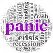 Panic concept on white — Stock Photo