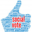 Social media vote concept — Stock Photo