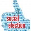 Social election concept  — Stock Photo