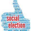 Social election concept — Stock Photo #14073351