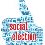 Social election concept — Stock Photo