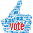 Presidential vote concept — Stock Photo