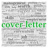 Cover letter concept — Stock Photo