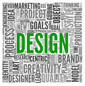 Design concept in tag cloud — Stock Photo