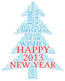Happy New Year 2013 in tag cloud — Stock Photo