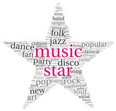 Music star concept words — Stock Photo