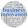 Business innovation in word tag cloud — Stock Photo